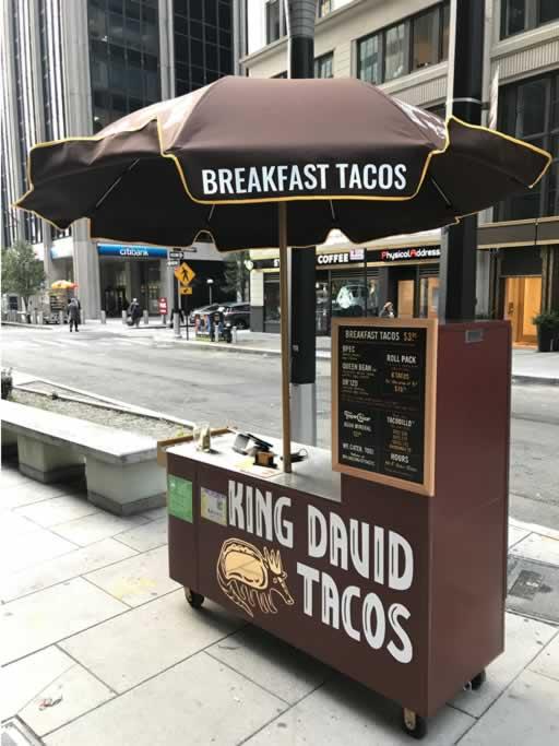 King David Taco cart