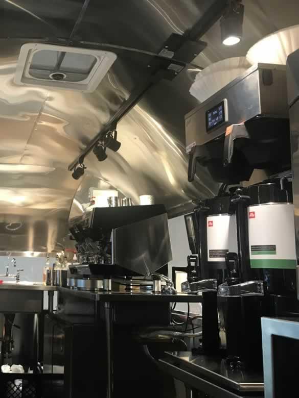 Airstream coffee trailer