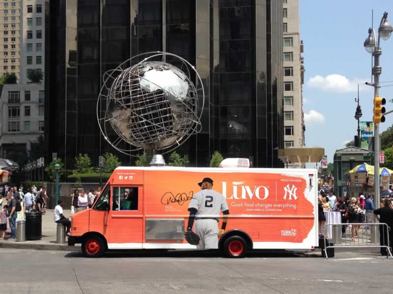 Luvo promotional food truck